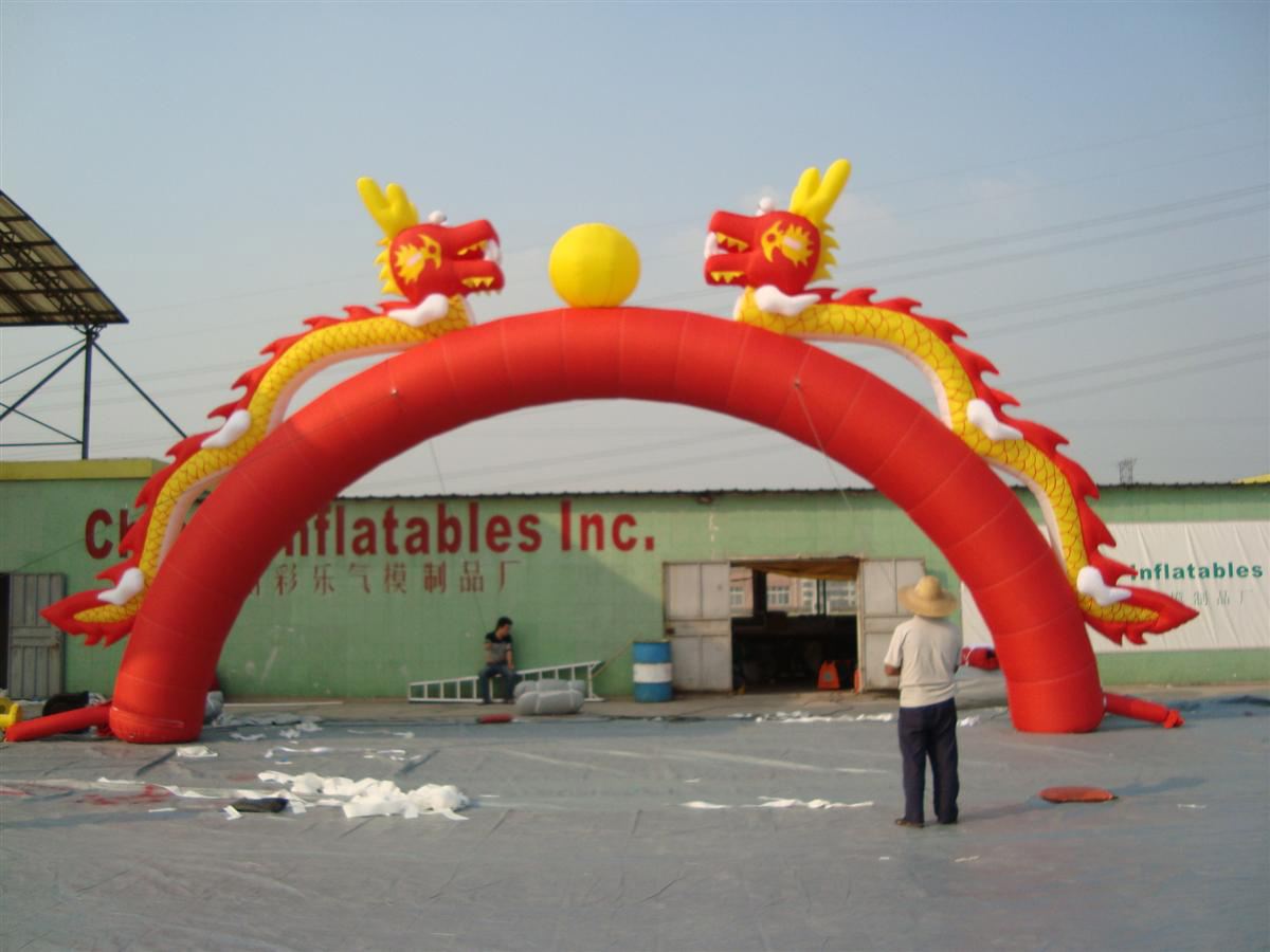 Chinese dragon inflatable jumpling castle