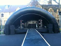 An Inflatable Stage